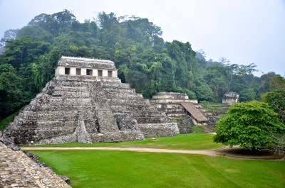 Mayan Ruins at Palenque, Mexico